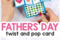 Twist And Pop Fathers Day Card – Easy Peasy And Fun with Twisting Hearts Pop Up Card Template