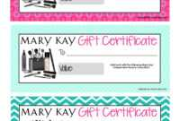 Uk | Mary Kay Gift Certificates pertaining to Mary Kay Gift Certificate Template
