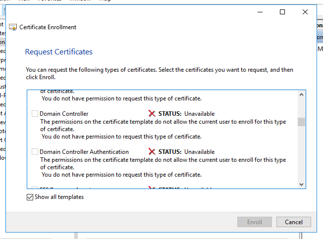 Unable To Request New Certificate From Nps Server Throughout Domain Controller Certificate Template