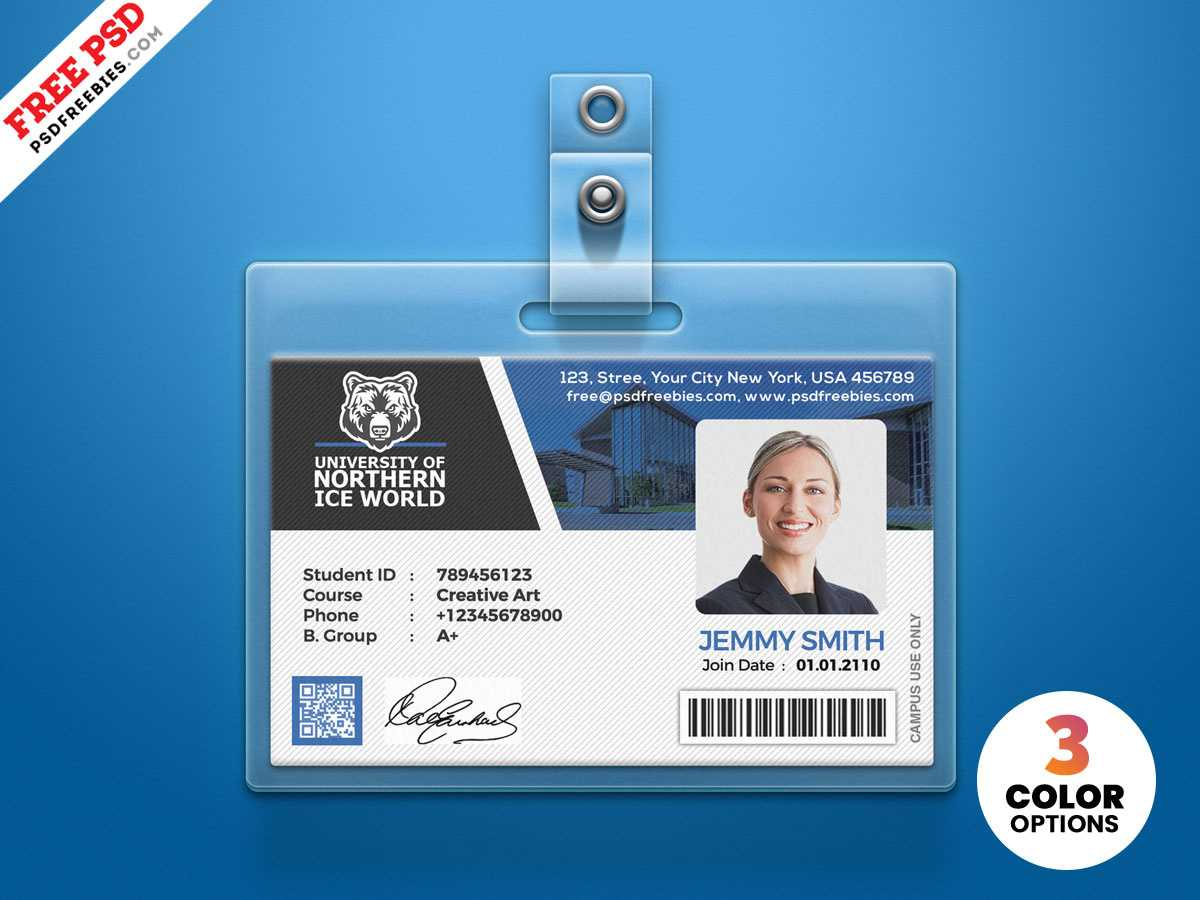 University Student Identity Card Psdpsd Freebies On Dribbble Throughout Template For Id Card Free Download