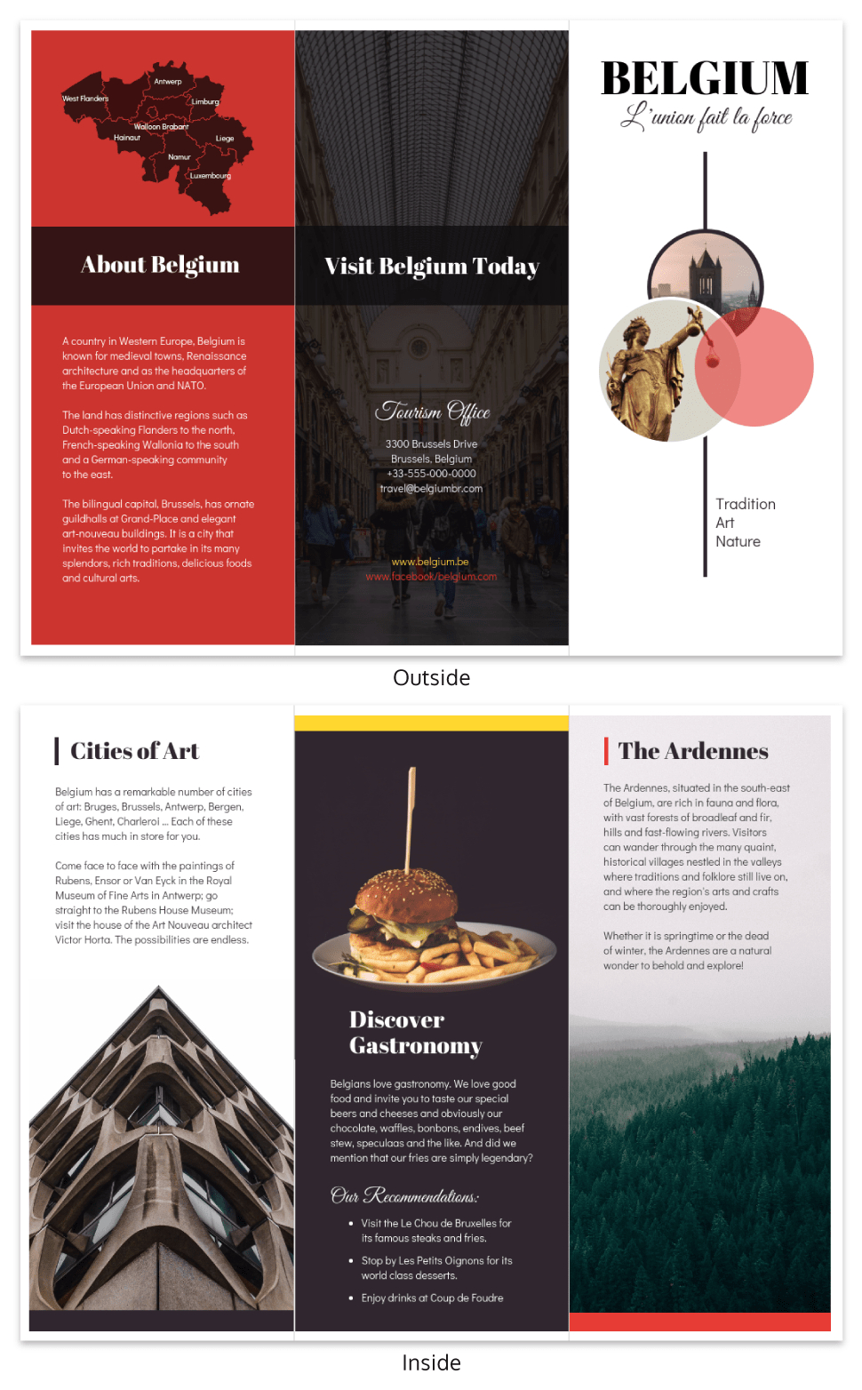 Vacation Travel Brochure Template Throughout Country Brochure Template