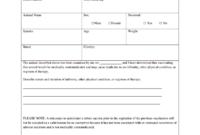Vaccination Certificate Format Pdf – Fill Online, Printable pertaining to Rabies Vaccine Certificate Template