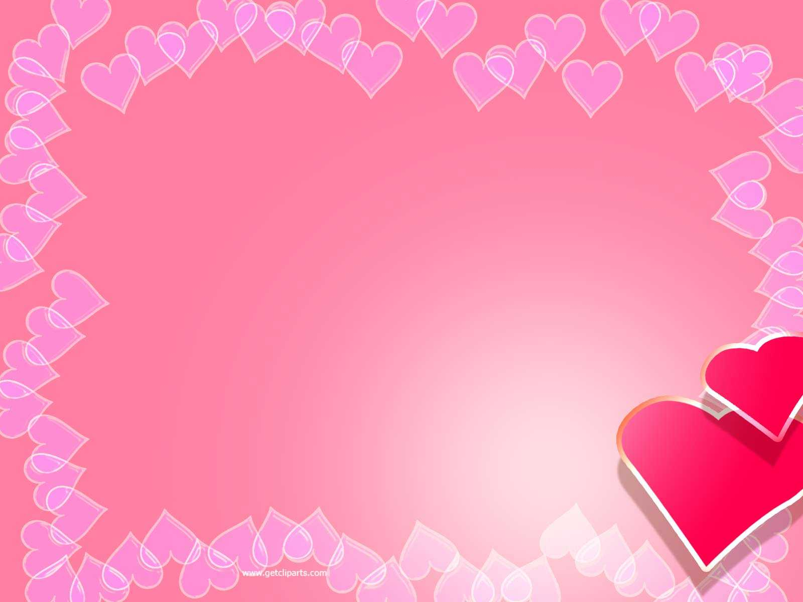 Valentine Backgrounds For Powerpoint - Border And Frame Ppt Pertaining To Valentine Powerpoint Templates Free