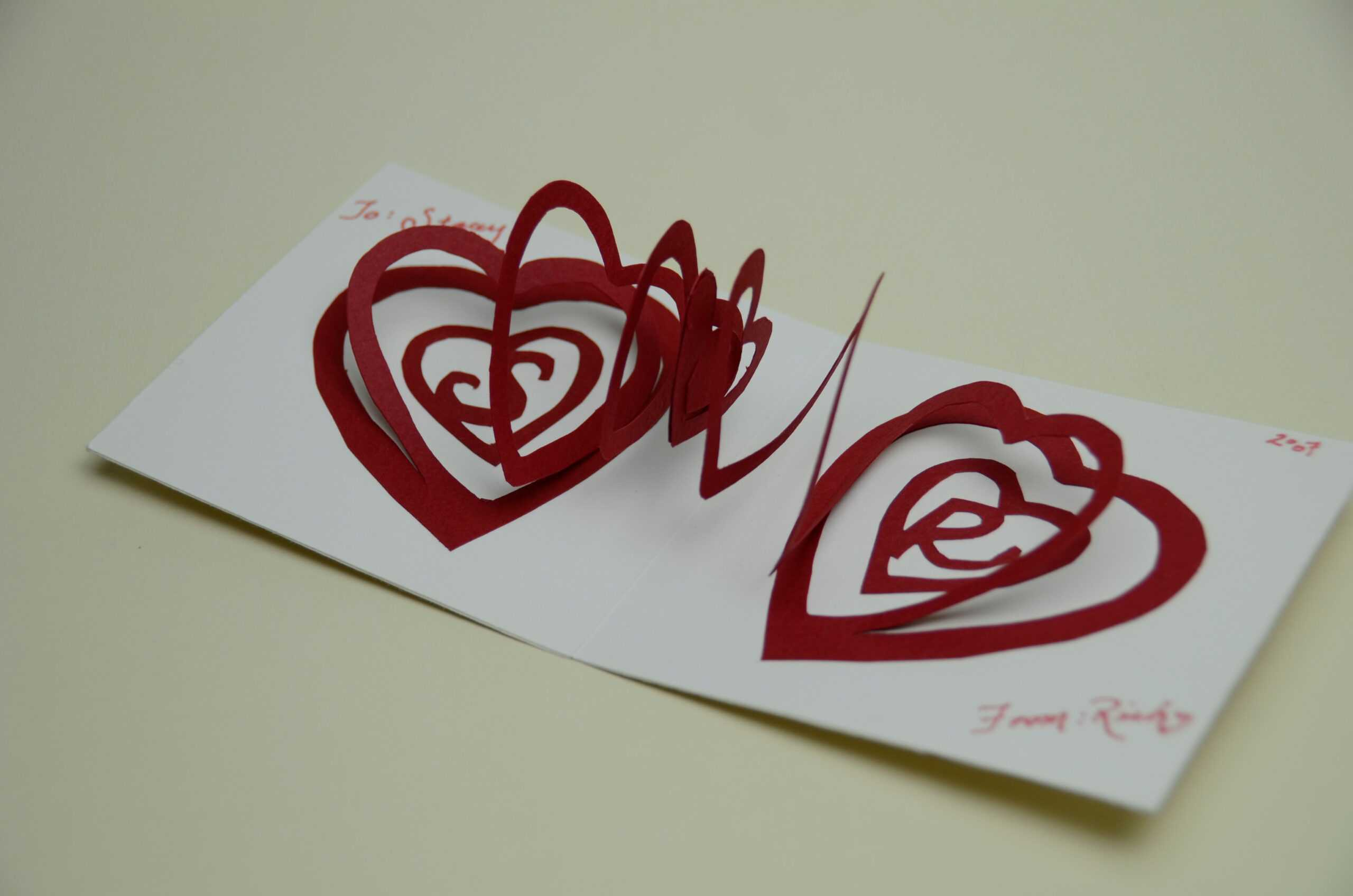Valentine's Day Pop Up Card: Spiral Heart Tutorial Throughout Heart Pop Up Card Template Free
