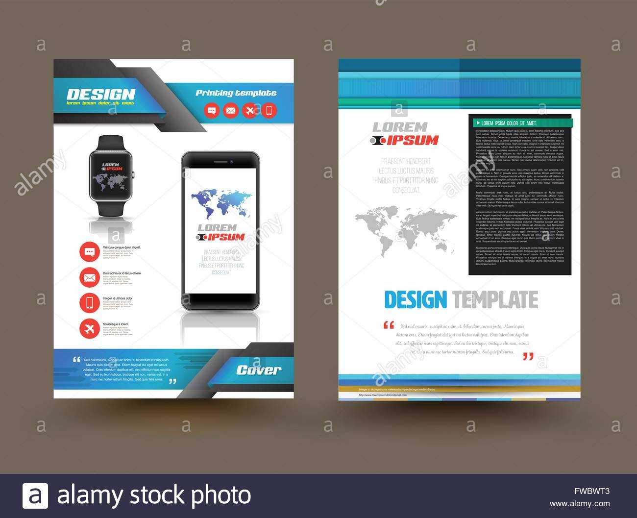 Vector Brochure Template Design For Technology Product Pertaining To Technical Brochure Template
