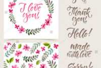 Vector Collection Cards Template Watercolor Elements Stock regarding Sorry Card Template