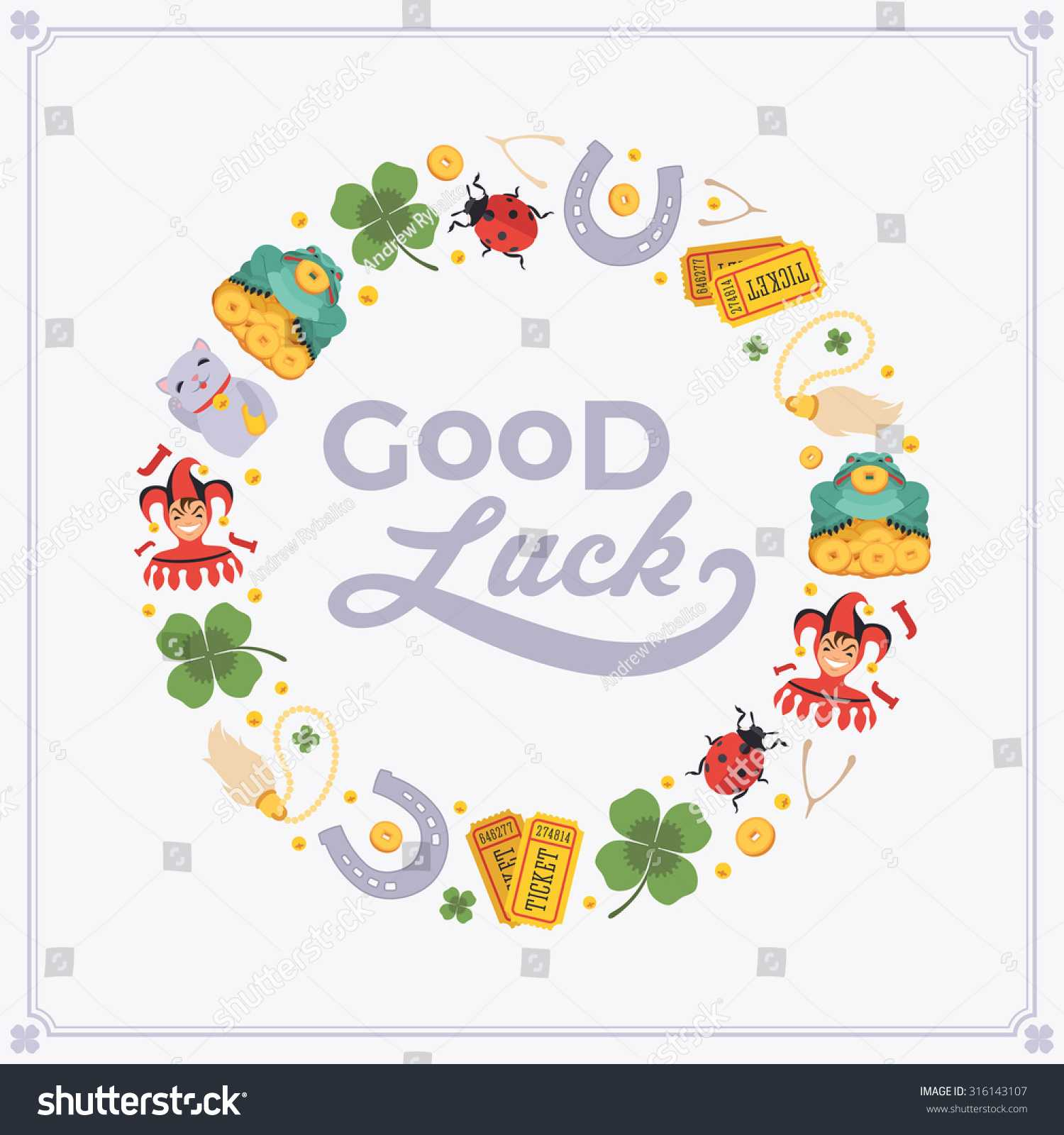 Vector Decorating Design Made Lucky Charms Stock Vector With Good Luck Card Templates