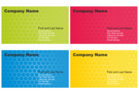 Vector For Free Use: Set Of Business Card Designs in Calling Card Free Template