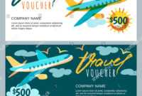 Vector Gift Travel Voucher Template Multicolor Stock Vector pertaining to Free Travel Gift Certificate Template