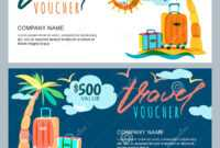 Vector Gift Travel Voucher Template. Tropical Island with regard to Free Travel Gift Certificate Template