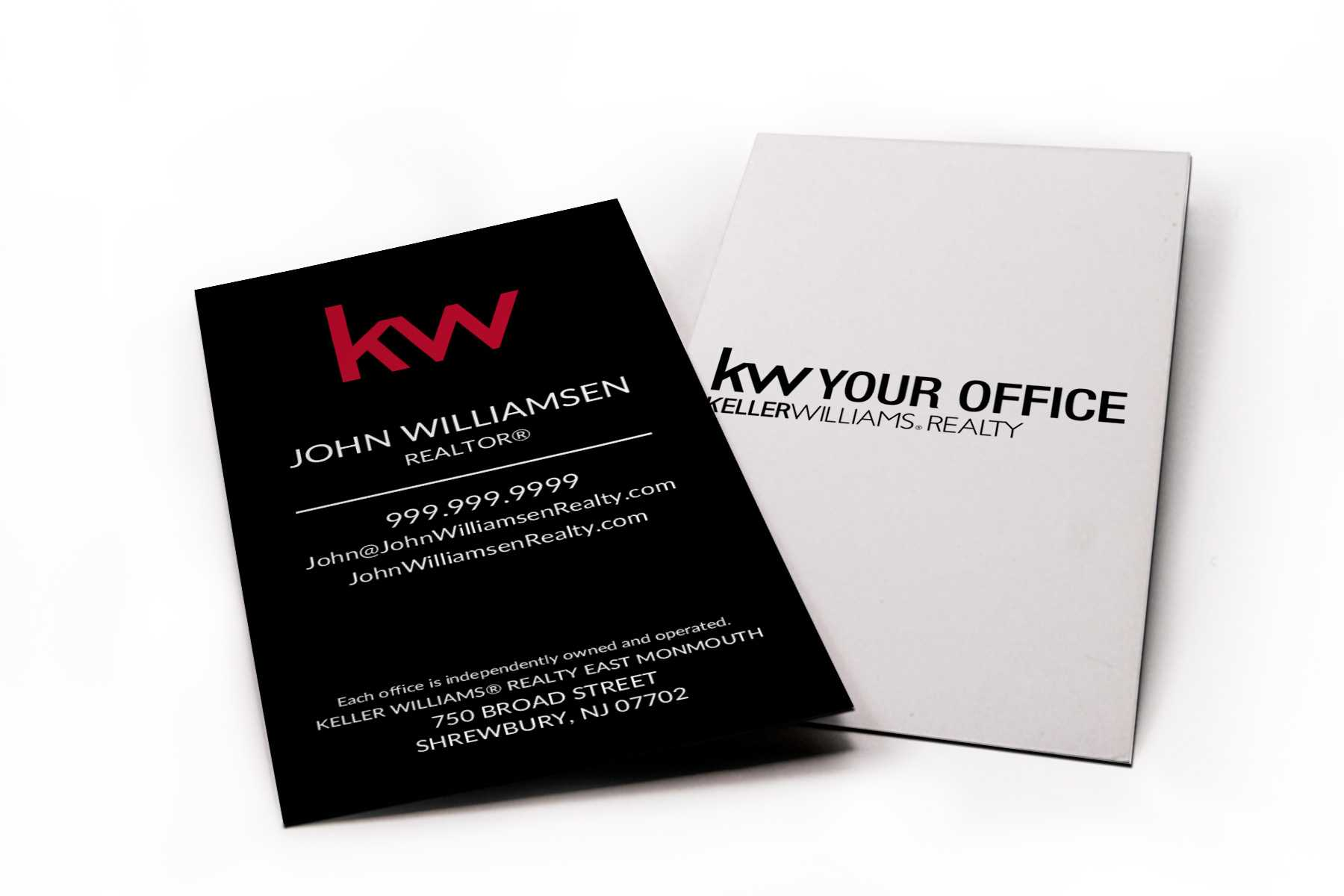 Vertical Black Kw Business Card With Keller Williams Business Card Templates