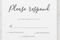Wedding Rsvp Examples – Sample Rsvps You Can Use For Your with Template For Rsvp Cards For Wedding