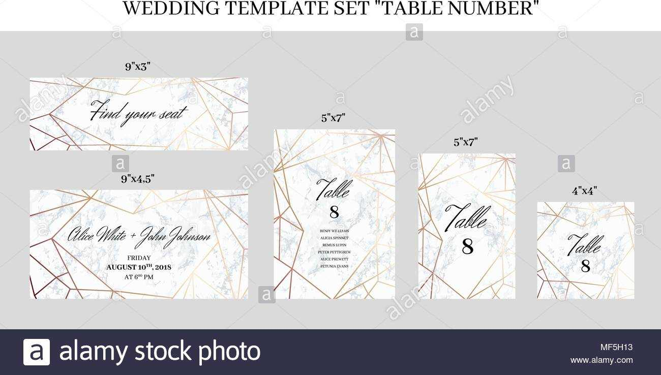 Wedding Template Set Table Number Cards Stock Vector Art With Table Number Cards Template