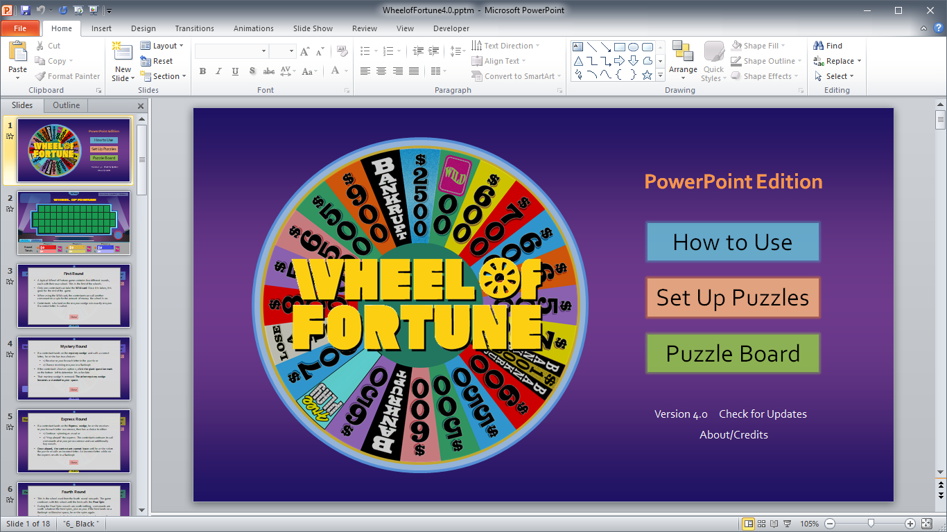 Wheel Of Fortune For Powerpoint - Gamestim With Regard To Wheel Of Fortune Powerpoint Game Show Templates