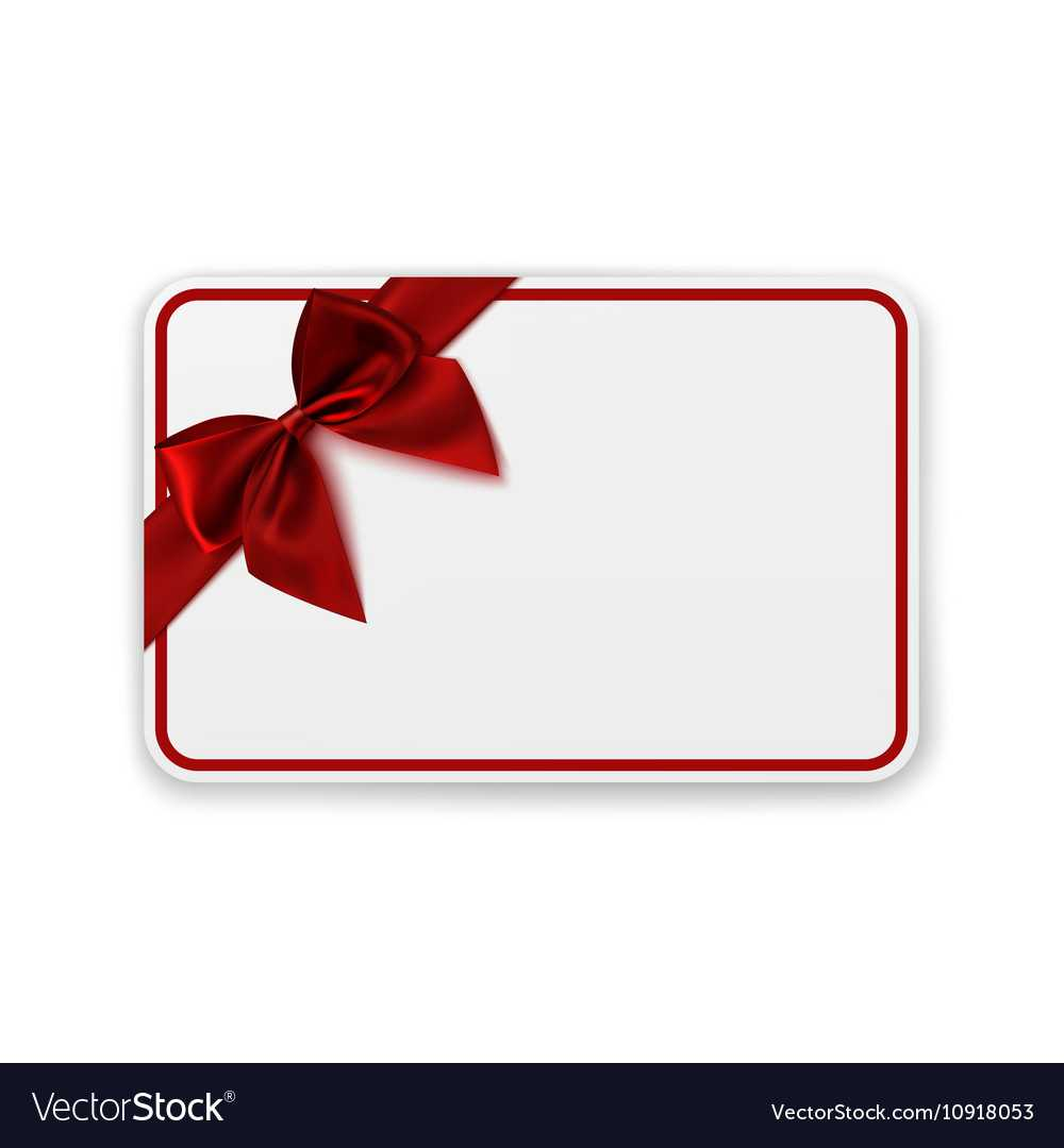 White Blank Gift Card Template For Present Card Template