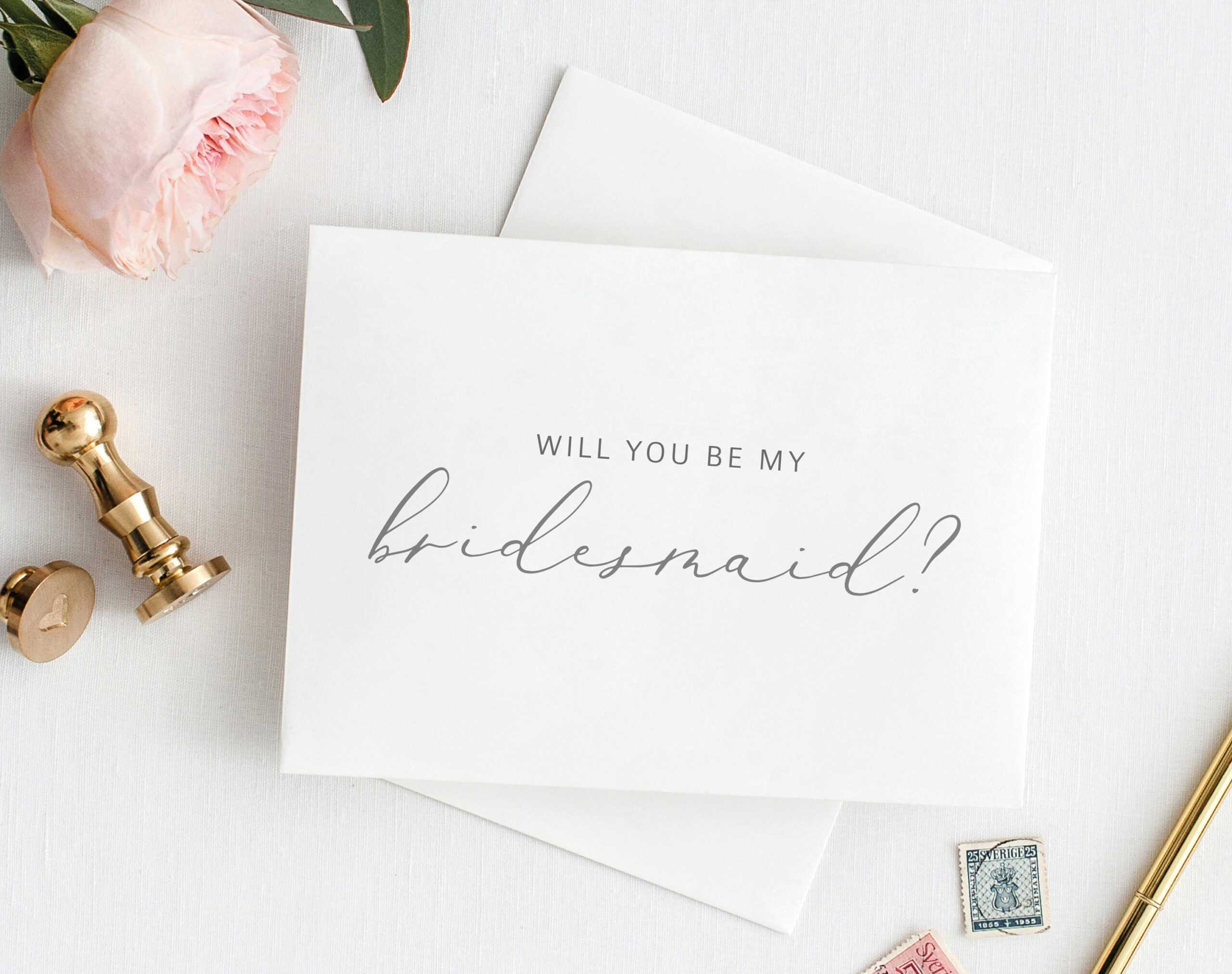 Will You Be My Bridesmaid Card, Printable Bridesmaid Card Pertaining To Will You Be My Bridesmaid Card Template