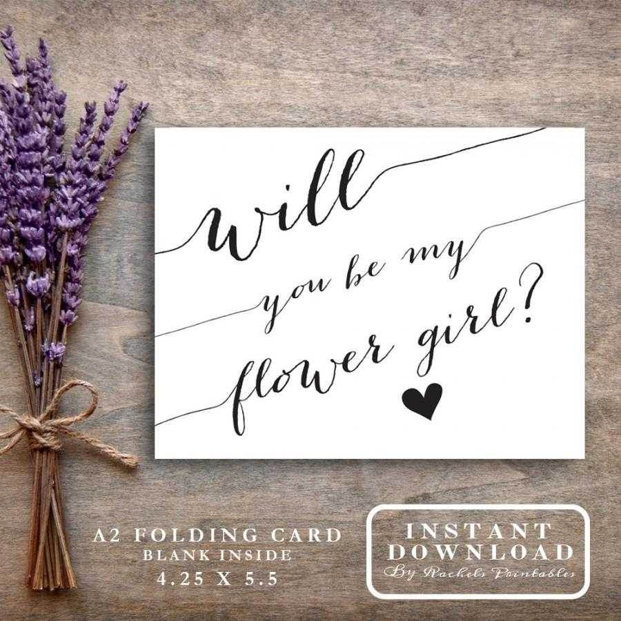 """Will You Be My Flower Girl Card Printable """"will You Be My Intended For Will You Be My Bridesmaid Card Template"""