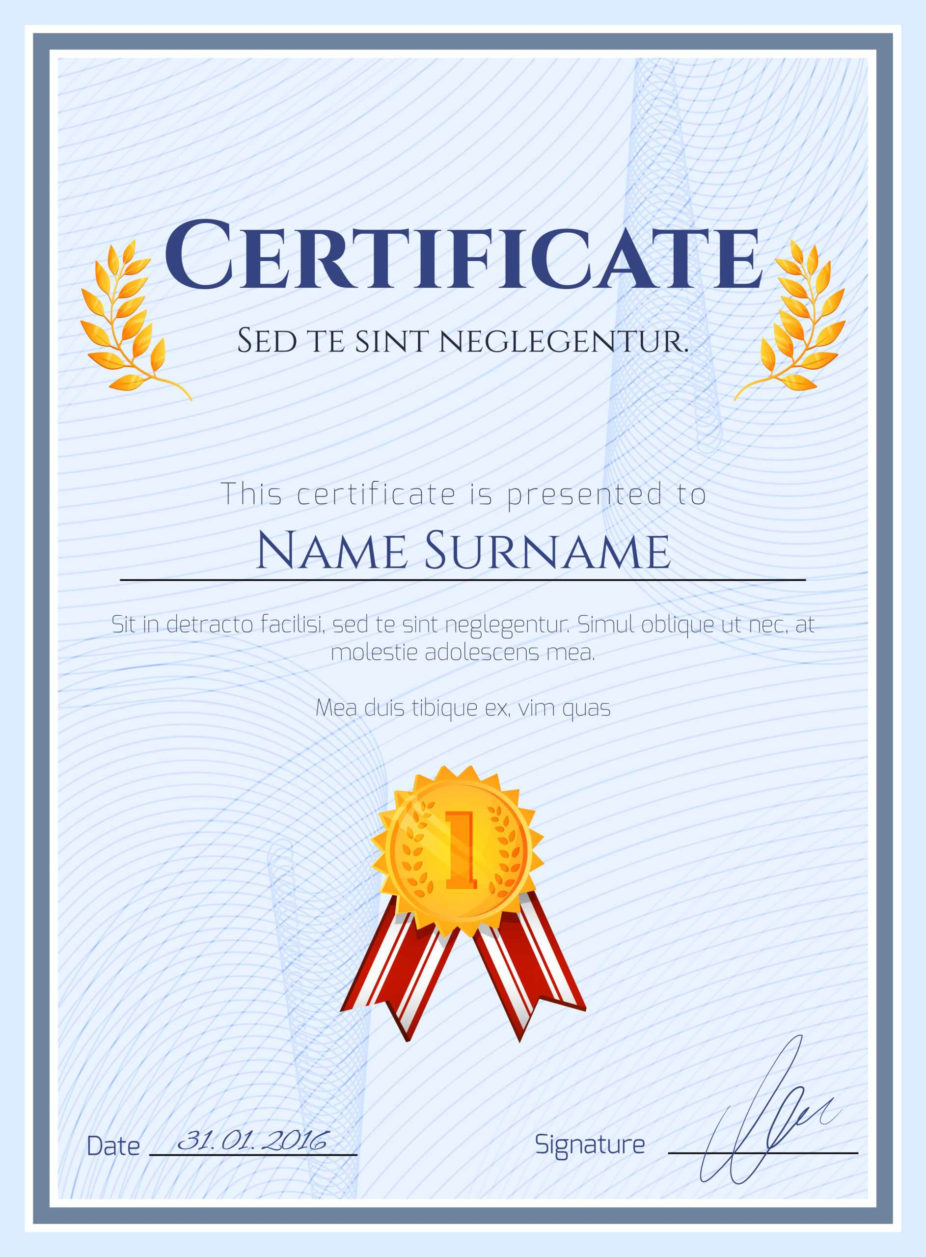 Winner Certificate With Seal - Download Free Vectors Inside Winner Certificate Template