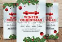 Winter Wonderland Christmas – Psd Flyer Template – Free Psd within Christmas Brochure Templates Free