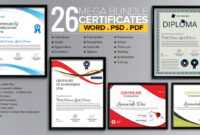 Word Certificate Template – 53+ Free Download Samples in Free Templates For Certificates Of Participation