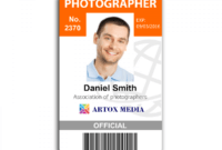 Work Id Templates – Zohre.horizonconsulting.co with Photographer Id Card Template