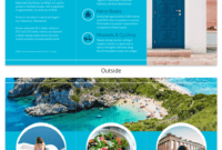World Travel Tri Fold Brochure with regard to Country Brochure Template