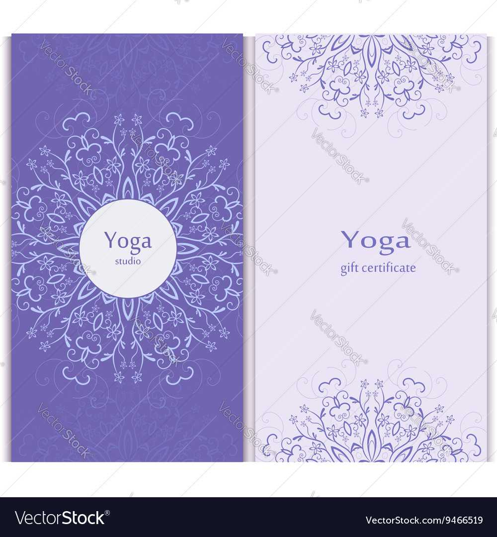 Yoga Gift Certificate Template With Regard To Yoga Gift Certificate Template Free